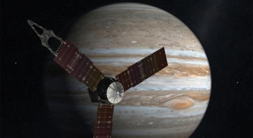 Jupiter-bound Juno spacecraft mated to its rocket