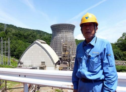 Kazuhiro Takase shows AFP around Japan's first geothermal plant