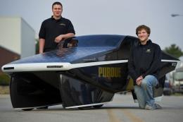 Purdue students build street-legal 2, 200 mpg solar powered car