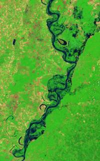 Landsat 5 satellite sees Mississippi River floodwaters lingering