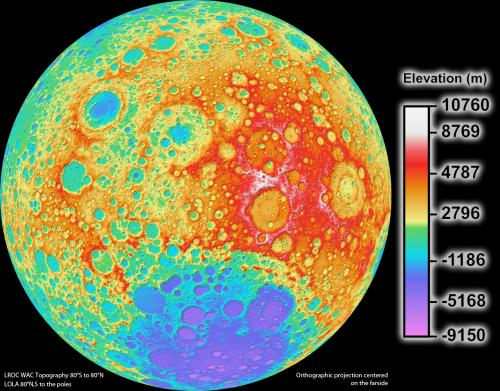 LRO camera team releases high resolution global topographic map of moon