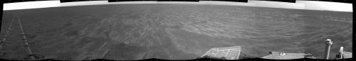 Mars Rover driving leaves distinctive tracks