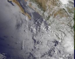 NASA and NOAA satellite video shows Tropical Storm Beatriz fizzle in 6 hours