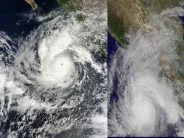 NASA gets an icy cold wink from Hurricane Jova's eye