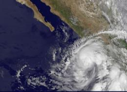 NASA sees Hurricane Beatriz 'wink' on the Mexican coast