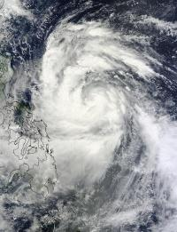 NASA sees Typhoon Nesat nearing landfall in northern Philippines