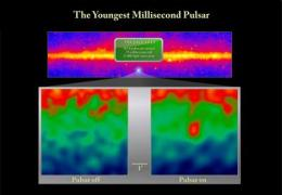 NASA's Fermi finds youngest millisecond pulsar, 100 pulsars to date