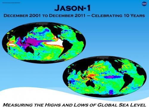 NASA's Jason-1 achieves a one-decade landmark