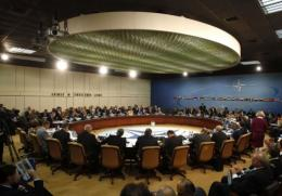 NATO Defence ministers during a summit at the NATO headquarters