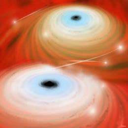 Newly merged black hole eagerly shreds stars