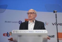 News Corporation Chairman and CEO Rupert Murdoch addresses the e-G8 Forum