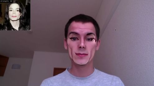 Software developer shows face-swapping in realtime (w/ video)