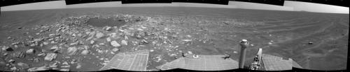 Opportunity passes small crater and big milestone