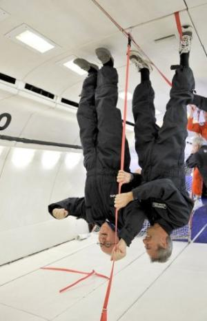 Passengers on the zero gravity flight have experience a G-force of 1.8 before they become weightless