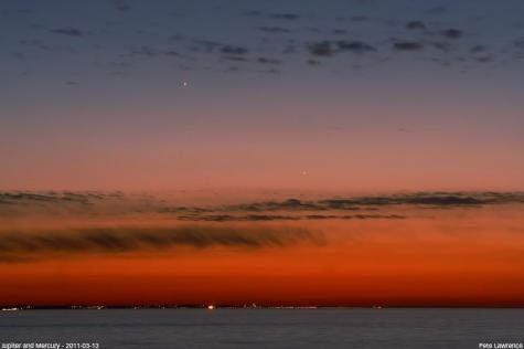 Mercury at sunset