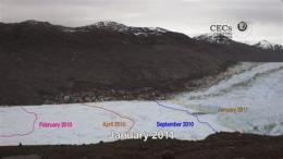 Rapid retreat of Chile glacier captured in images (AP)