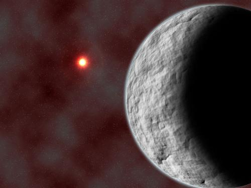Rocky, low-mass planet discovered by microlensing