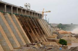 Roseires dam in the Blue Nile state in northern Sudan