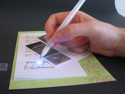 Silver pen has the write stuff for flexible electronics