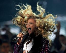 Singer Beyonce Knowles performs onstage during the 2011 MTV Video Music Awards