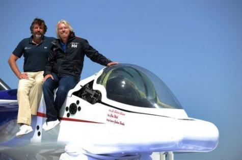 Sir Richard Branson (R) and explorer Chris Welsh announced plans to pilot a