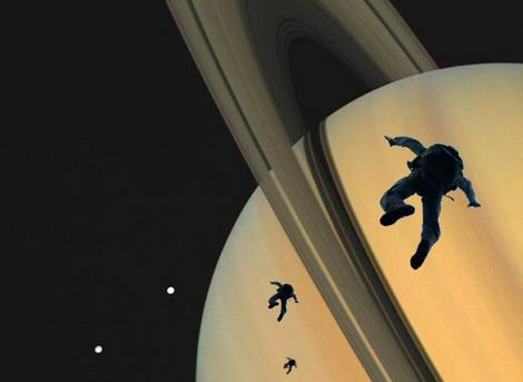 Skydiving on Saturn