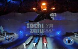 Sochi, the host of the 2014 Winter Olympics, is introduced during the closing ceremony of the 2010 Winter Olympics