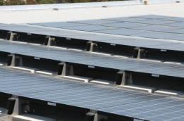 Solar panels keep buildings cool