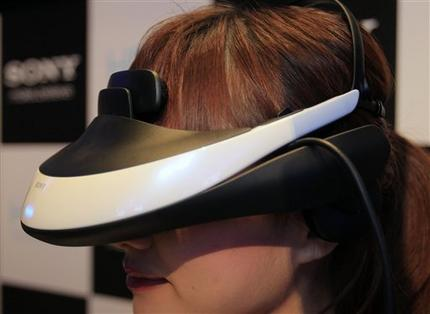 Sony shows wearable 3-D personal theater (AP)