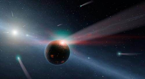 Spitzer detects comet storm in nearby solar system