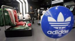 Sporting goods are displayed at the Adidas Sports Performance store in New York City
