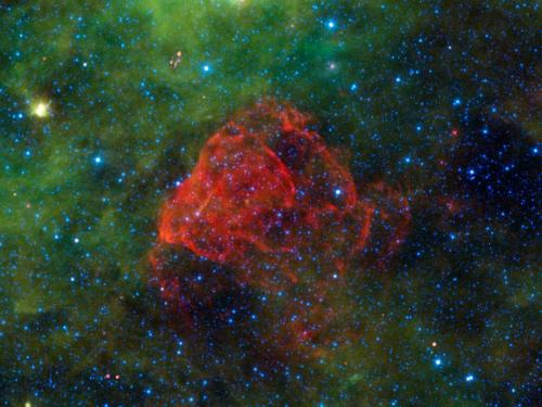 Star explosion leaves behind a rose