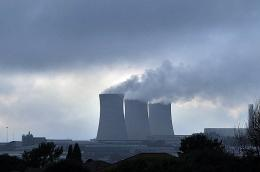 Steam billows from Kempton Park Power Station in Johannesburg