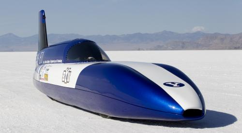 Student-built electric car sets land speed record at Salt Flats