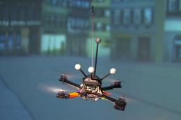 Swarming robots - enhancing the communication in flying robot systems
