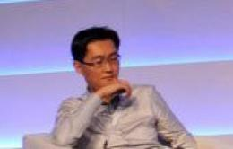 Tencent Inc founder Ma Huateng at the China Internet Conference in Beijing in August