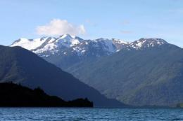 The Beltrand lake in Aysen Region, Chile, where plans to build giant hydroelectric dams has been blocked