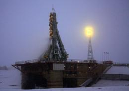 The crew blasted off from the Baikonur cosmodrome on Monday in Russia's first manned mission since June