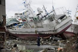 The debris was washed into the Pacific by giant tsunami waves in March