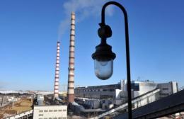 The Eesti Elektrijaam power plant in Narva, Estonia