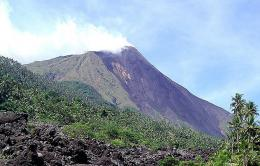 The Karangetang volcano