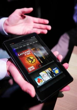 The Kindle Fire has a seven inch screen