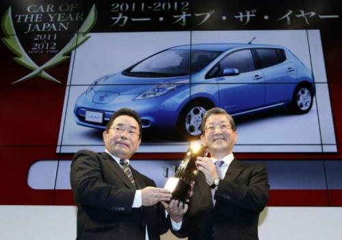 The Nissan Leaf is the first electric car to win