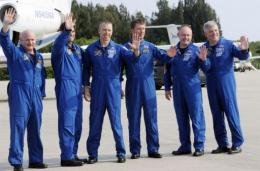 The six-member crew of astronauts includes five Americans and one Italian