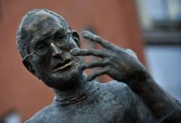 The statue of the late co-founder of Apple, Steve Jobs