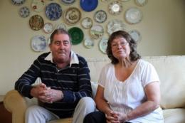 'Torquay Tutankhamun' Alan Billis with his wife Janet in August last year
