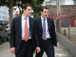Tyler (R) and Cameron (L) Winklevoss lost a case against Facebook