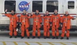 US Space shuttle Endeavour crew