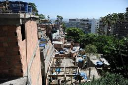 View from the shantytown complex that includes the Pavao, Pavaozinho and Cantagalo slums in Rio de Janeiro