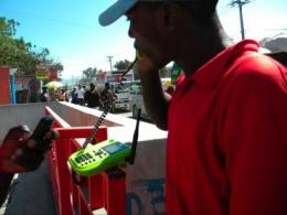 Providing work for Haitians with a phone call